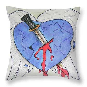 Murdered Soul Throw Pillow by Loretta Nash