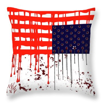 America In Distress Throw Pillow