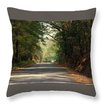 Murphy Mill Road Throw Pillow by Jerry Battle