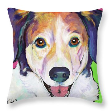 Murphy Throw Pillow by Pat Saunders-White