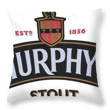 Murphys Irish Stout Throw Pillow