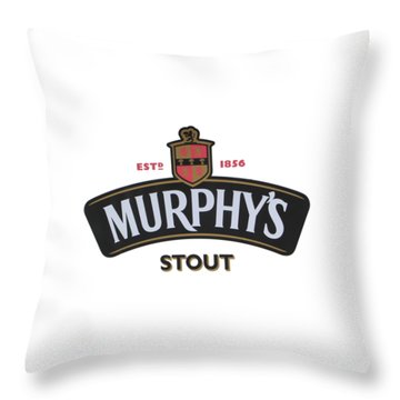 Murphys Irish Stout Throw Pillow