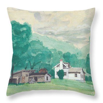 Murray Hollow Farm Throw Pillow by Fred Jinkins