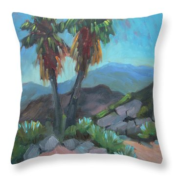 Throw Pillow featuring the painting Murray Trail Andreas Canyon by Diane McClary