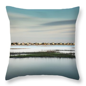 Murrells Inlet Marsh Throw Pillow