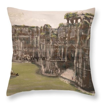 Murud Janjira Fort Throw Pillow