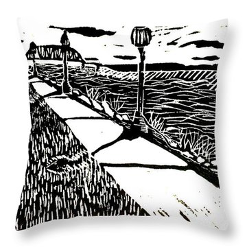 Muscatine Riverfront Throw Pillow