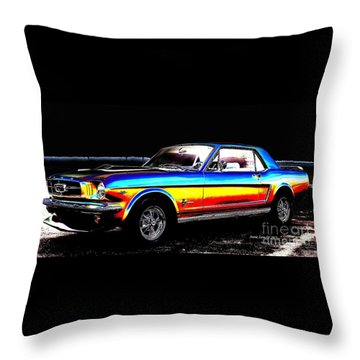Muscle Car Mustang Throw Pillow