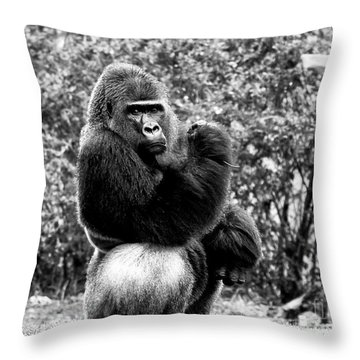 Muscles Throw Pillow