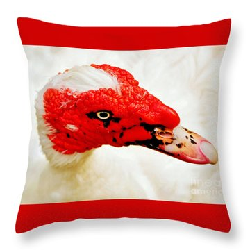 Muscovy Duck Throw Pillow by Kaye Menner
