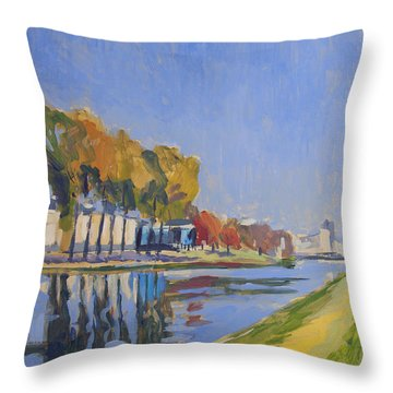 Musee La Boverie Liege Throw Pillow by Nop Briex