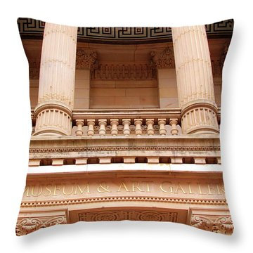 Museum And Art Gallery Entrance Throw Pillow by Stephen Melia