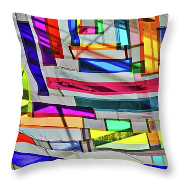 Museum Atrium Art Abstract Throw Pillow