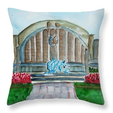 Museum Center Throw Pillow