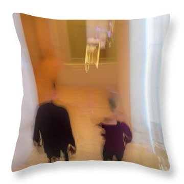 Throw Pillow featuring the photograph Museum Day by Alex Lapidus