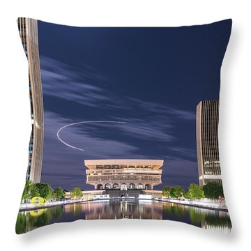 Museum Flyby Throw Pillow