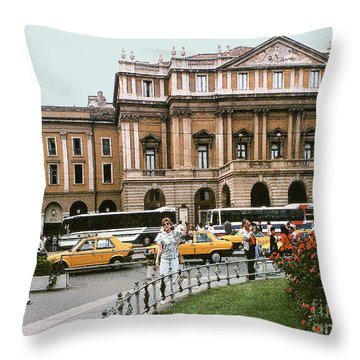 Throw Pillow featuring the photograph Museum Housing Leonardo Divinci's Last Supper Painting - Milan, Italy by Merton Allen