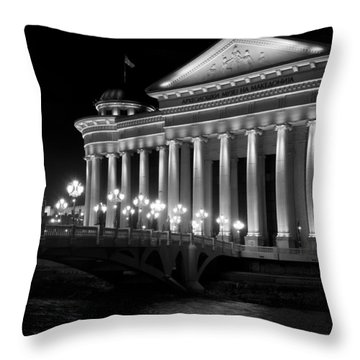 Museum Of Archaeology Throw Pillow by Rae Tucker