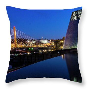 Museum Of Glass At Blue Hour Throw Pillow