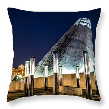 Museum Of Glass Water Forest At Twilight Throw Pillow