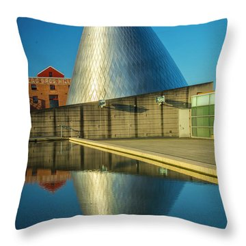 Museum Of Glass Tower Throw Pillow