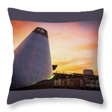 Museum Of Glass Tower#2 Throw Pillow