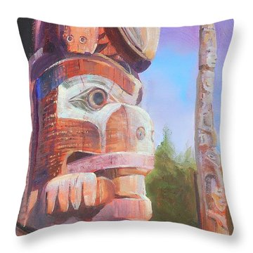 Museum Of Man Throw Pillow by Ron Wilson