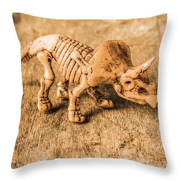 Museum Of Plastic Extinctions Throw Pillow
