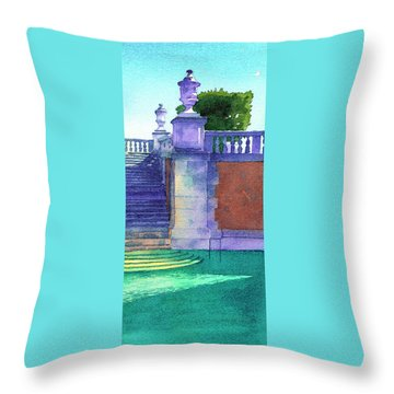 Museum Pool, Miami Throw Pillow