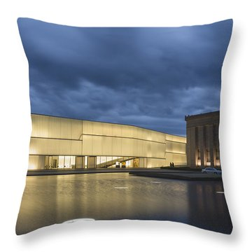Museum Reflections Throw Pillow