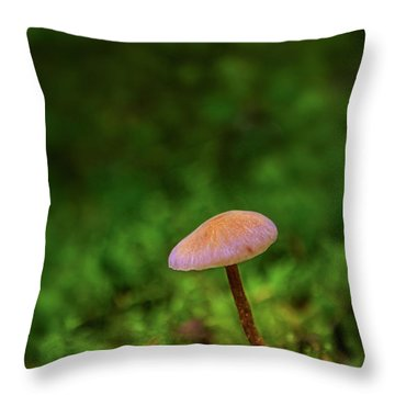 Mushflower Throw Pillow