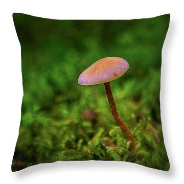 Mushflower Throw Pillow