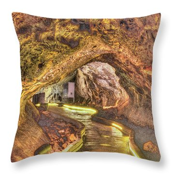 Mushpot Cave Throw Pillow