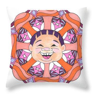 Mushroom Baby Throw Pillow