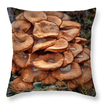 Mushroom Bouquet Throw Pillow