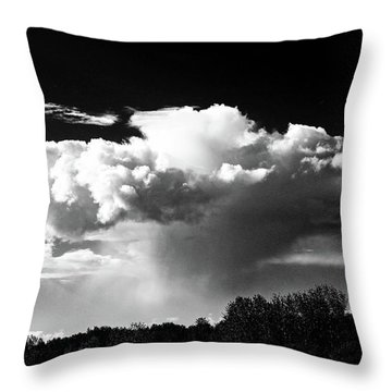 Mushroom Cloud Burst Dark Sky Throw Pillow