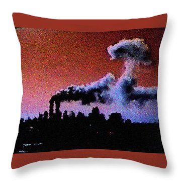 Mushroom Cloud From Flight 175 Throw Pillow