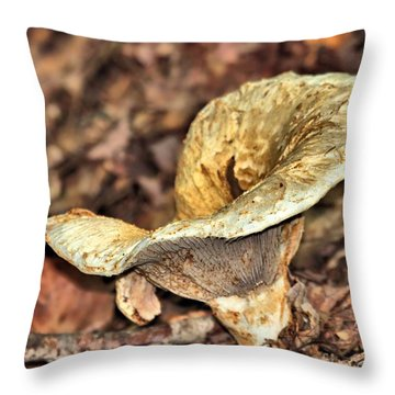 Throw Pillow featuring the photograph Mushroom by Debbie Stahre