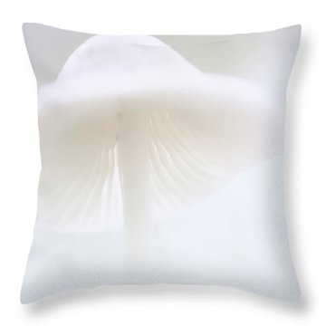 Throw Pillow featuring the photograph Mushroom Fairy Dreams, Mycena Galericulata by Dirk Ercken