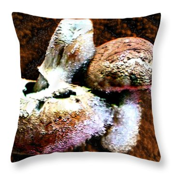 Throw Pillow featuring the photograph Mushroom Love by Steve Sperry