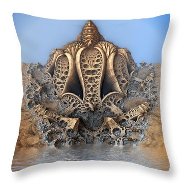 Mushroom Pod Throw Pillow