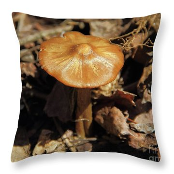 Mushroom Rising Throw Pillow
