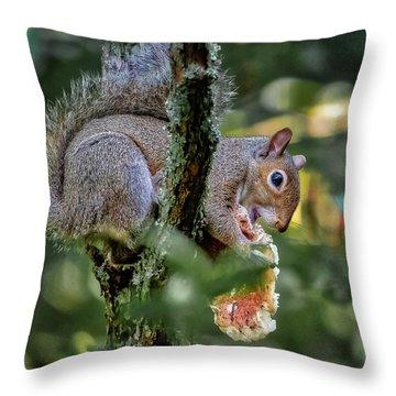 Mushroom Treat Throw Pillow