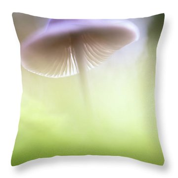 Throw Pillow featuring the photograph Mushroom Ufo by Dirk Ercken