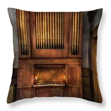 Music - Organist - What A Big Organ You Have  Throw Pillow by Mike Savad