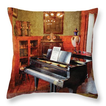 Music - Piano - It's A Long Long Way To Tipperary Throw Pillow by Mike Savad