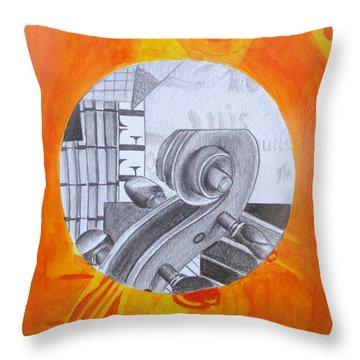 Music 3 Throw Pillow