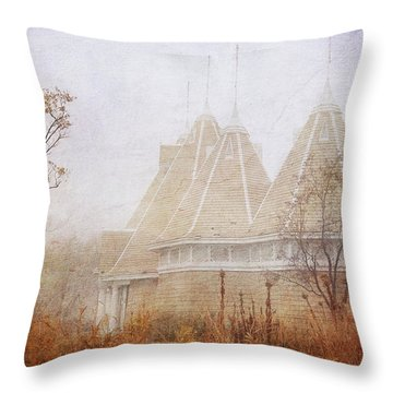 Throw Pillow featuring the photograph Music And Fog by Heidi Hermes