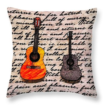Music And Poetry By Jasna Gopic Throw Pillow by Jasna Gopic