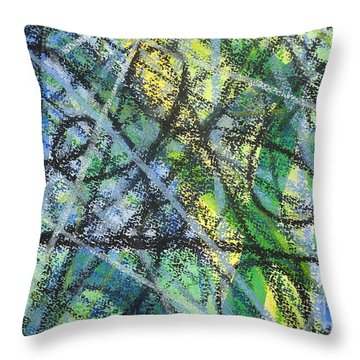 Music And Rhythm Throw Pillow by Holly York